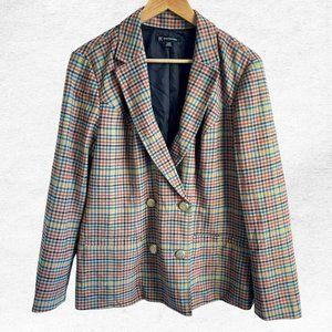 NWT INC Plaid Tweed Blazer Jacket
